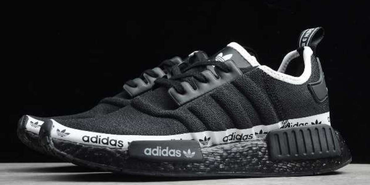 "2020 New adidas NMD R1 ""Black Tape Logo"" For Wholesale FV7307"