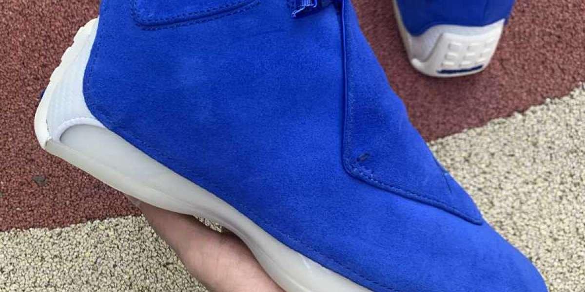 2020 Air Jordan 18 Retro 'Blue Suede' aa2494-401 UK Hot Sell